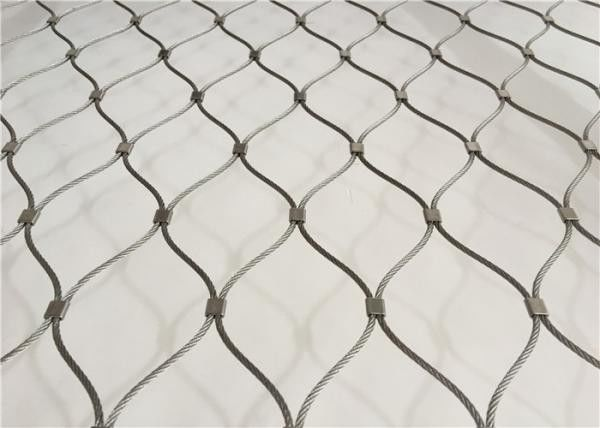 SUS 316 7x7 7x19 Knotted Wire Mesh , Hand Woven Flexible Wire Mesh Netting